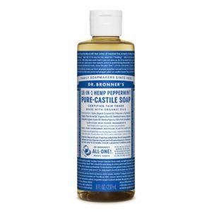 Dr. Bronner's Organic Pure Castile Liquid Soap Peppermint – 8 fl oz
